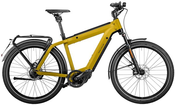 Riese & Müller SuperCharger Rohloff Perf. Speed Curry 49cm 1000wh Kiox w/ frt rack