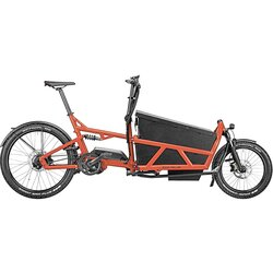 Riese & Müller Load 60 Vario Perf. Red 500wh Purion 2 kids, high sidewalls with hard cover