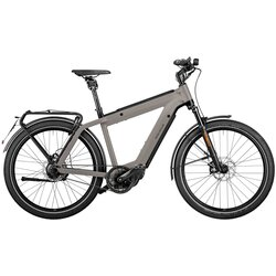 Riese & Müller SuperCharger Rohloff Perf. Speed Silver 56cm 1250wh Nyon w/ frt rack