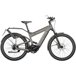 Riese & Müller SuperDelite Rohloff Perf. Speed Silver 47cm 1250wh Nyon w/ frt rack