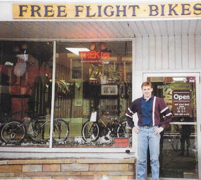 Brian infront of his Platteville location in 1995
