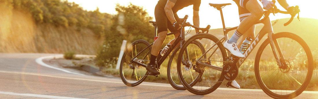 Closeup of Road Bicycle Riders