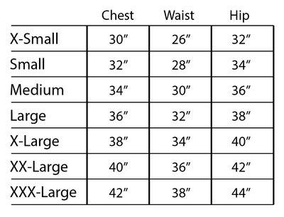 SNS Size Chart