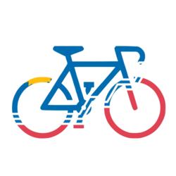 Spoke-N-Sport Sioux Falls Flag Bike Stickers