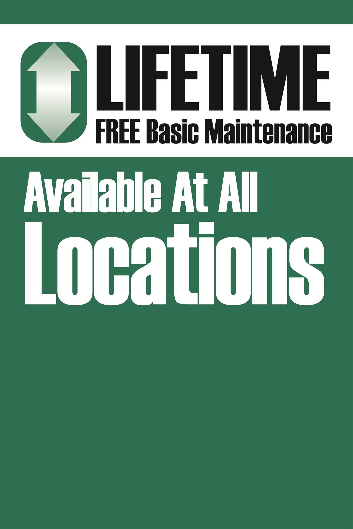 Lifetime Free Basic Maintenance