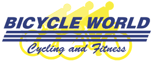 Bicycle World Cycling and Fitness logo - link to home page
