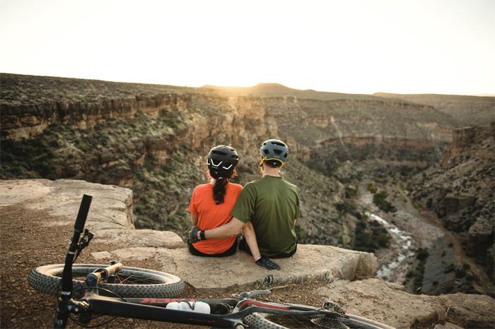 A couple enjoying a sunset