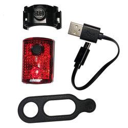 Clear Rear Light, 3 LED, w/ USB-4 Mode