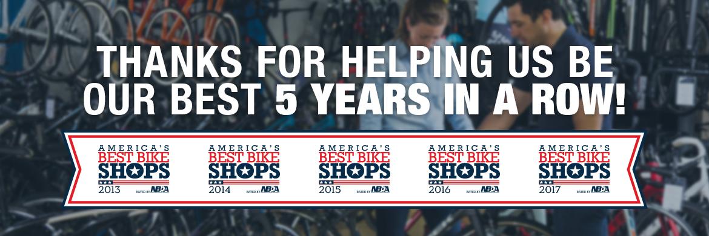 One of America's Best Bike Shops 5 years running!