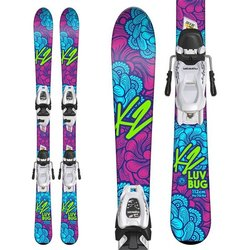 K2 Luv Bug Skis + Marker FDT 4.5 Bindings - Little Girls'