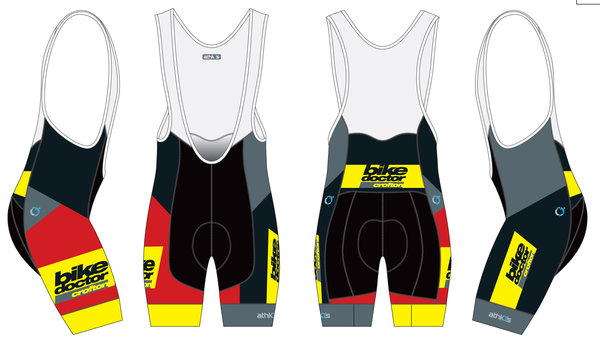 CROFTON BIKE DOCTOR 18 CBD Split-Zero Bib Short Mens Race