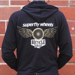 Superfly Wheels ZIP Hooded Sweatshirt