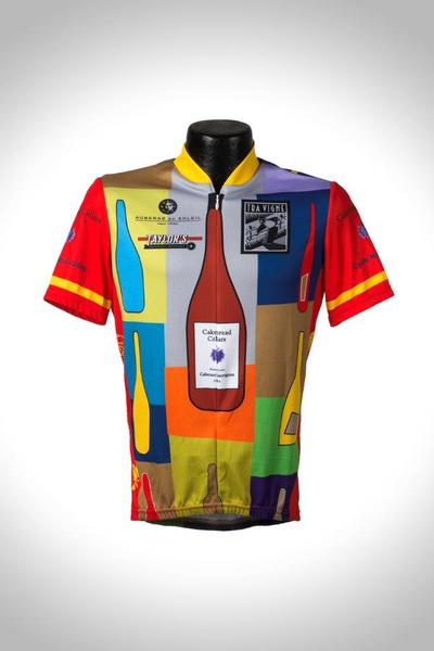 St Helena Cyclery Bottles Wine Country Jersey