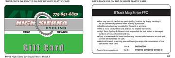 High Sierra Cycling Gift Card
