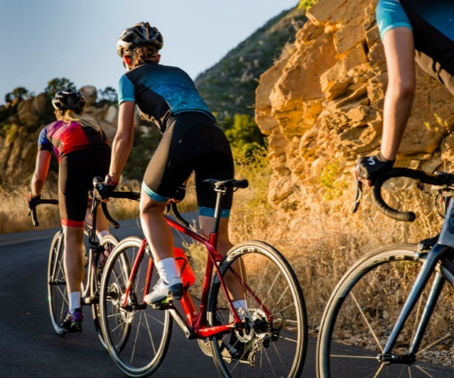 Road Cyclists in a group