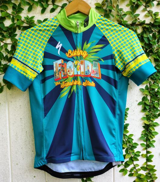 AJ's Bikes and Boards Gear AJ's Biking Florida Jersey