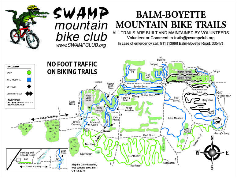 Balm-Boyette Mountain Bike Trail Map