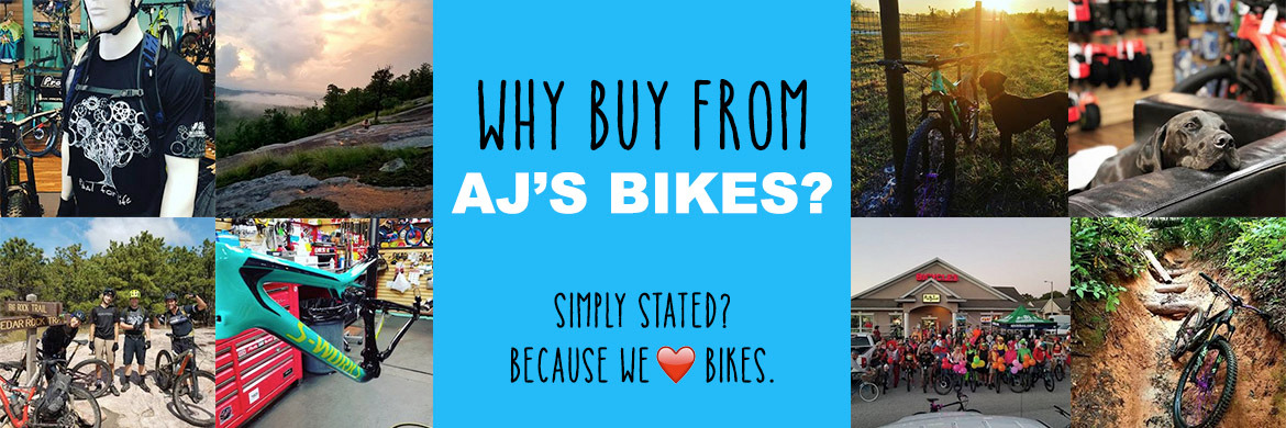 Why buy from AJ's Bikes?