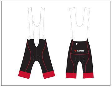 Hincapie Trek Store Bib Short Black/Red Men's