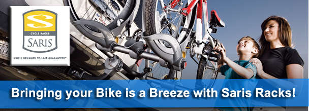 A Saris bike rack from Seaside Cycle makes bringing your bike a breeze!
