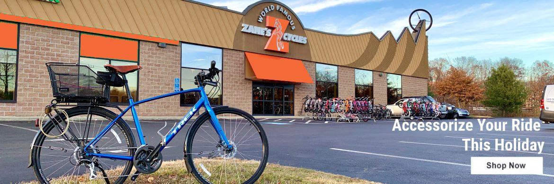 Zane's Cycles Electric Bike Hybrid Mountain Accessories Cycling Basket Rack Computer Lights