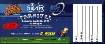 Bikeworks Raffle Ticket