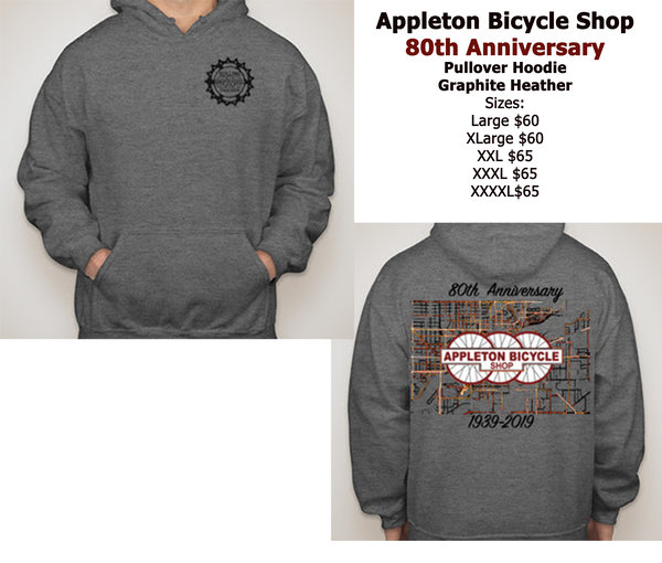 Appleton Bicycle Shop 80th Anniversary Pullover Hoodie