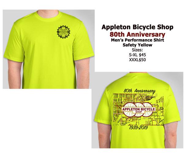 Appleton Bicycle Shop 80th Anniversary Performance Tee