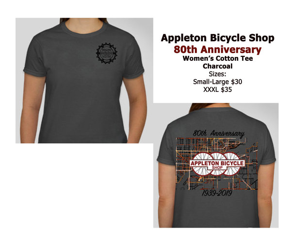 Appleton Bicycle Shop 80th Anniversary Women's Cotton Tee
