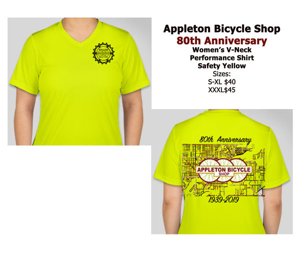 Appleton Bicycle Shop 80th Anniversary Performance Women's Tee