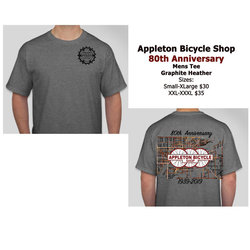 Appleton Bicycle Shop 80th Anniversary Men's Cotton Tee