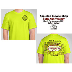 Appleton Bicycle Shop 80th Anniversary Performance Tee