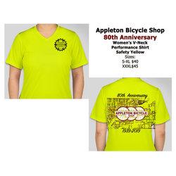 Appleton Bicycle Shop 80th Anniversary Performance Women's Tee