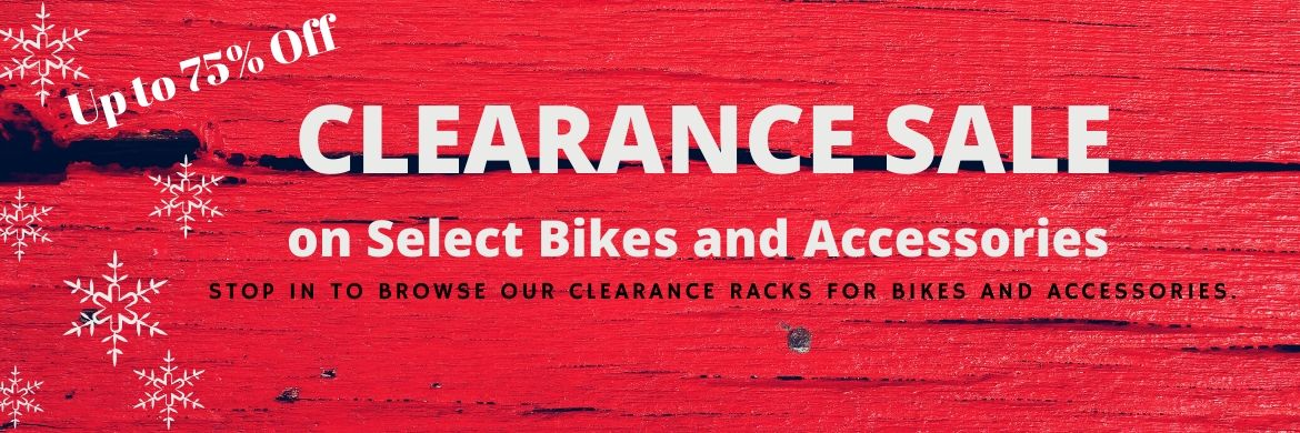 up to 75% Off on Clearance Racks and Bicycles at The Bicycle Store