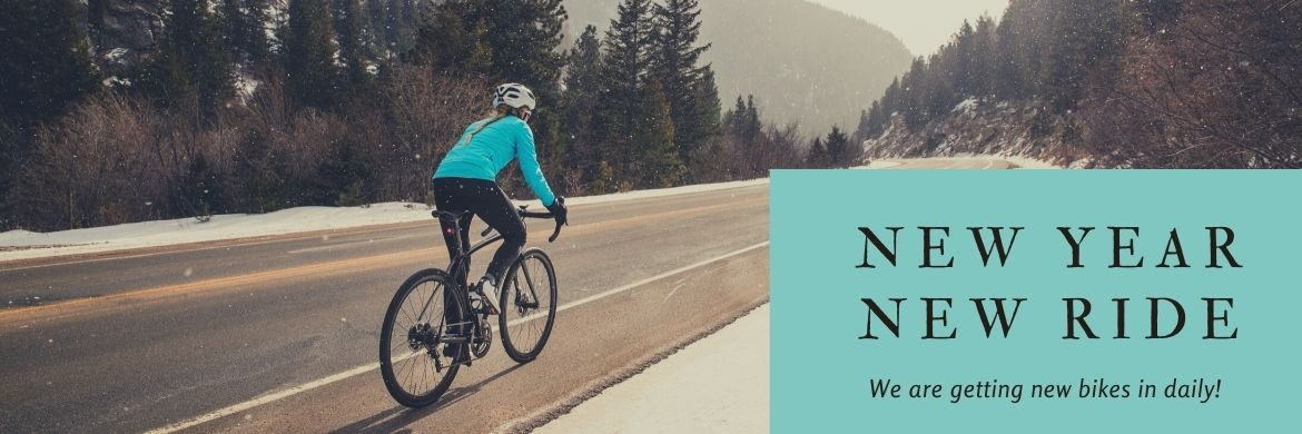 New Year. New Ride. New You. Stop in The Bicycle Store today!