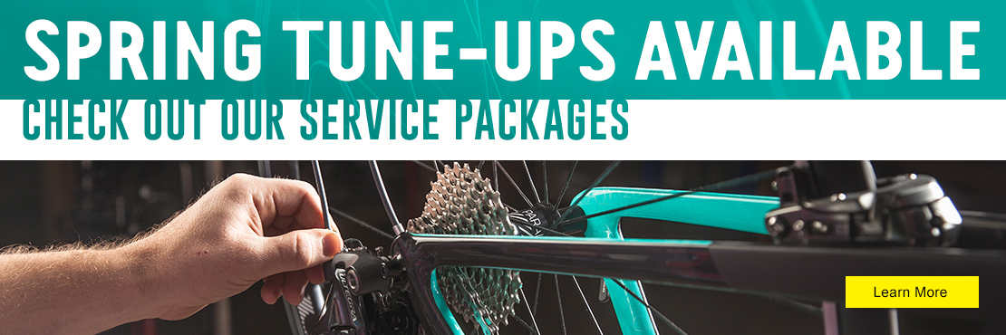 Spring Tune-up packages available at The Bicycle Store