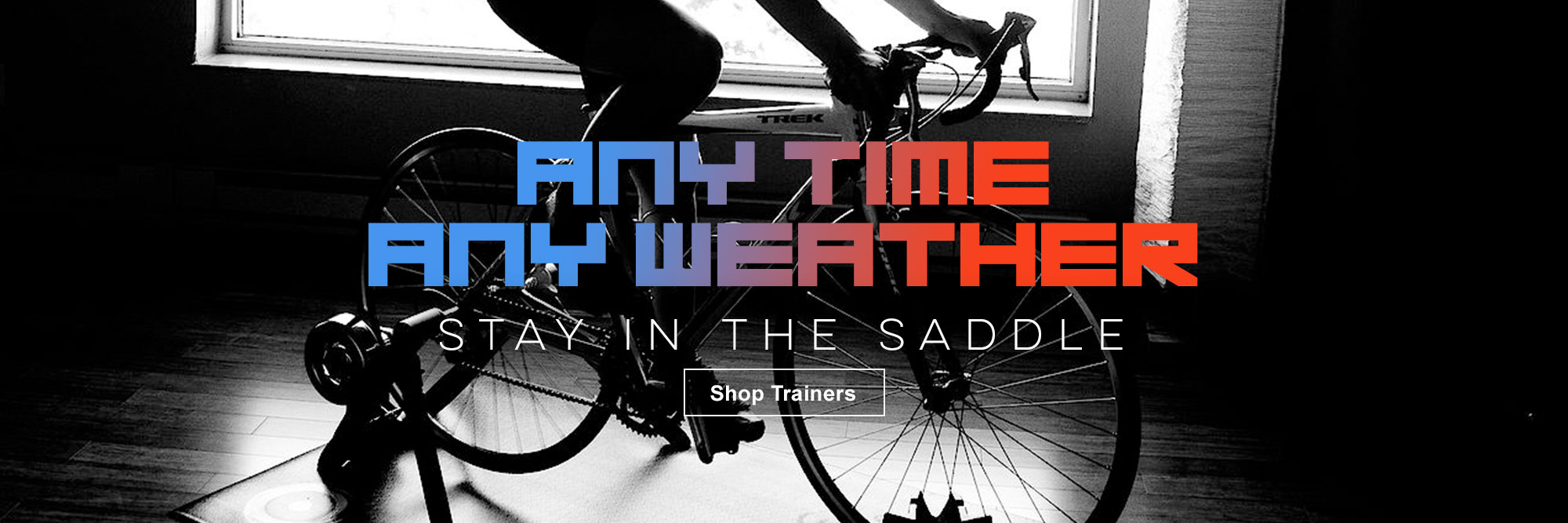 Ride all Year...trainers here at The Bicycle Store