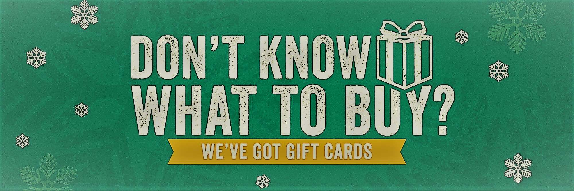 Gift Cards available in any denomination from The Bicycle Store