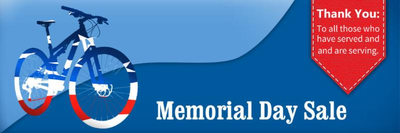 The Bicycle Store is going to save you some green on this red, white, and don't be blue Memorial Day!