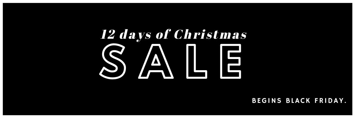 An exclusive sale item each day! 12 Days of Christmas begins Black Friday at The Bicycle Store
