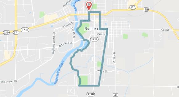 Tour de Brainerd - route map