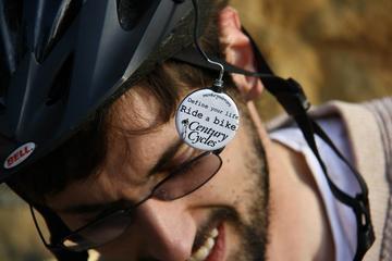 "Monkey Mirrors ""Define your life. Ride a bike."" Helmet Mirror"