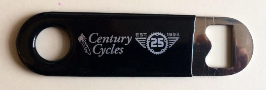 Century Cycles 25th Anniversary Edition Bottle Opener