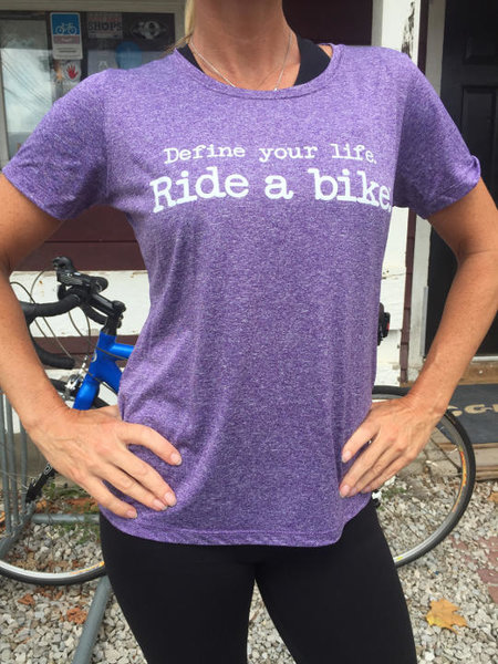 "Century Cycles ""Define your life. Ride a bike.™"" Performance Tech Tee"