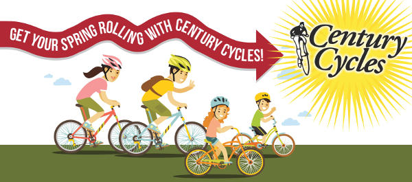 Get Your Spring Rolling with Century Cycles!