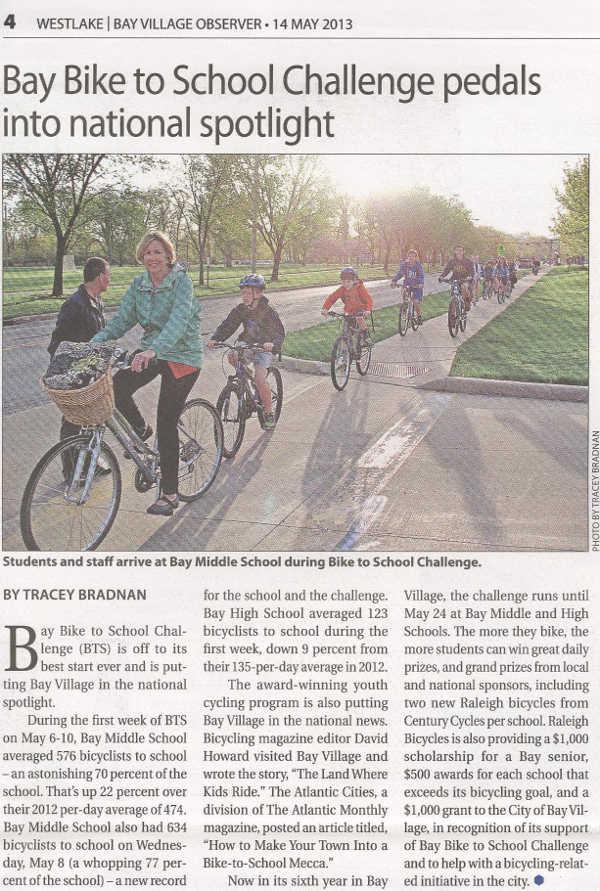 Scan of May 14, 2013 Westlake Bay Village Observer article