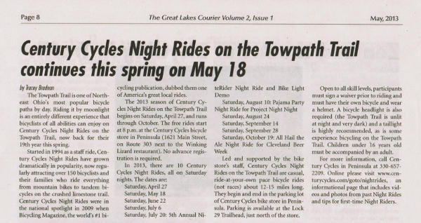 May 2013 Great Lakes Courier article