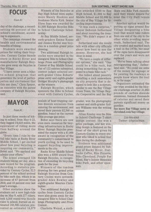 Scan of May 30, 2013 West Shore Sun article (part 2)
