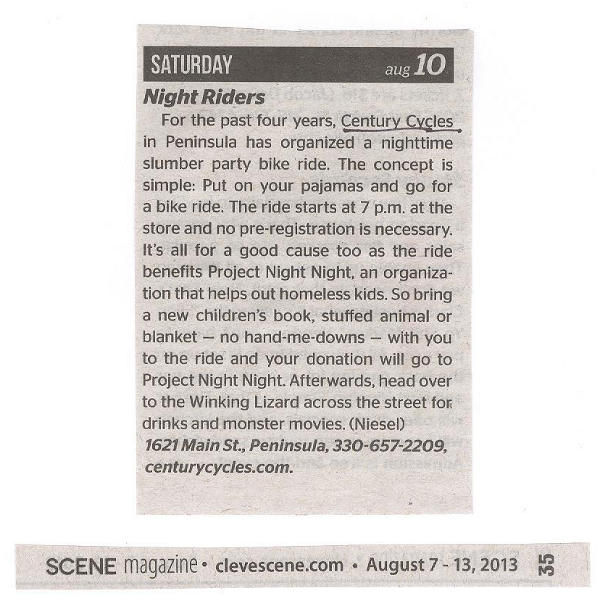 Scan of article from Aug. 7-13, 2013 issue of Cleveland Scene Magazine