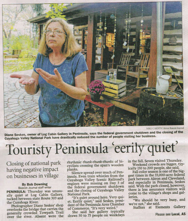 Scan of Oct. 4, 2013 Akron Beacon Journal article, page 1